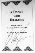 A Dance With Dragons Signed by George R. R. Martin