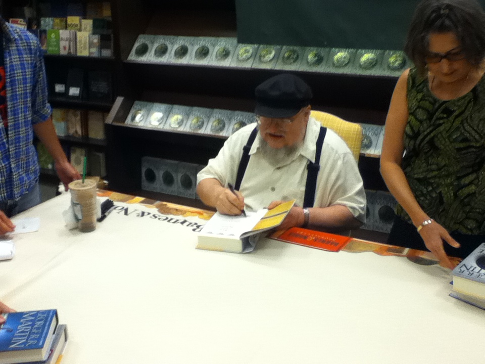 George R. R. Martin Signing A Dance With Dragons