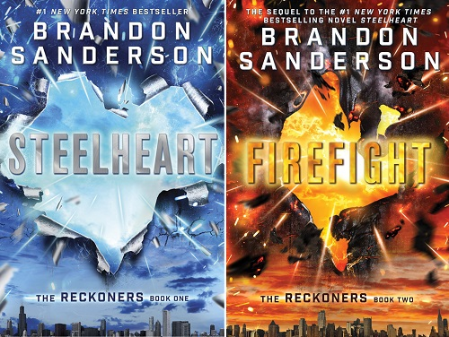 Steelheart and Firefight by Brandon Sanderson