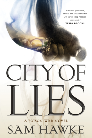 City of Lies by Sam Hawke Cover Image