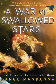 A War of Swallowed Stars by Sangu Mandanna Book Cover